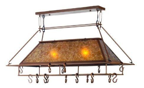 Meyda Simple Mission Pot Rack Rustic Lighting Fans
