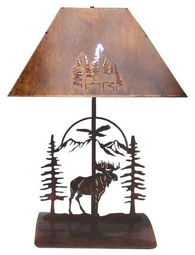 The Trendsetters Rustic Bedside Lamp