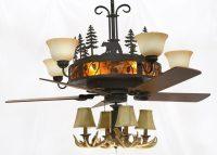 Cedarcrest Chandelier Ceiling Fan - Rustic Lighting and Fans