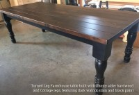 Turned Leg Farmhouse Tables - Rustic + Modern Handcrafted ...