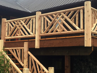 Log Railing Design Guide Learn About Your Options