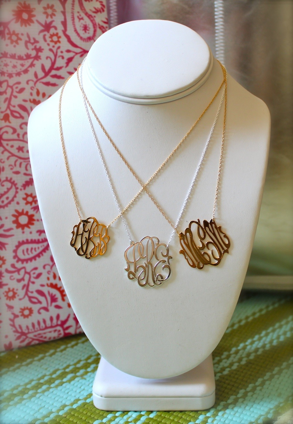 gold monogrammed necklace