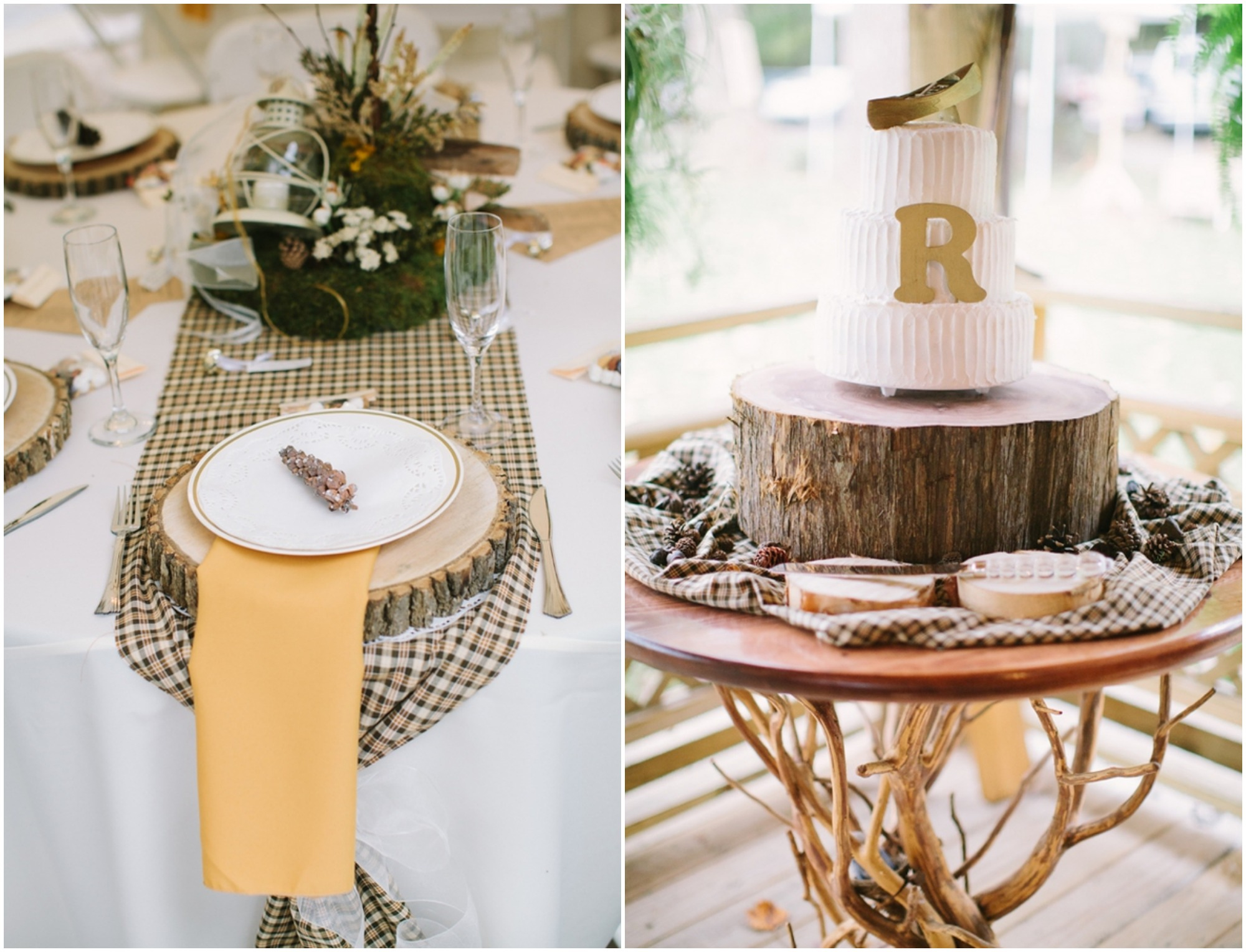 Table Decor Elegant Virginia Woodland Rustic Wedding Rustic Wedding Chic