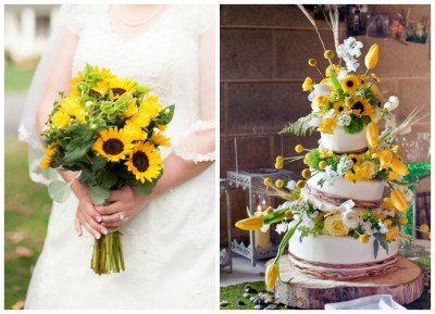 Sunflower Wedding Color Inspiration - Rustic Wedding Chic