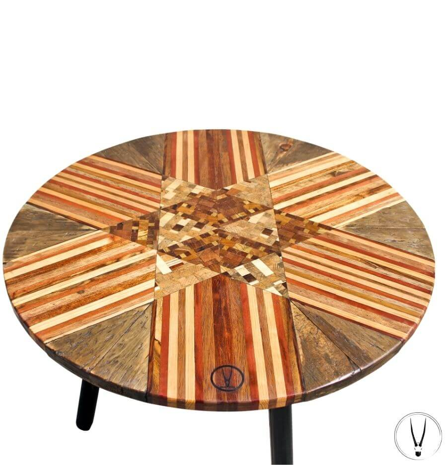 Dining Table Rustiko Imports Handmade Furniture Round Upcycled