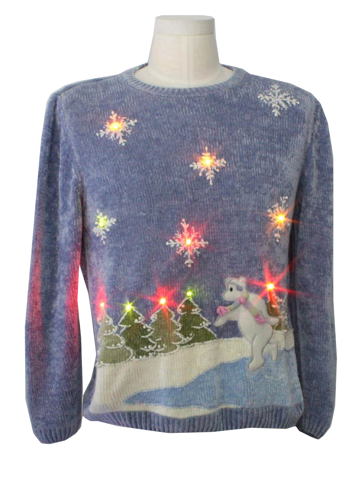 Short Pants Womens Ugly Lightup Christmas Sweater: -alfred Dunner