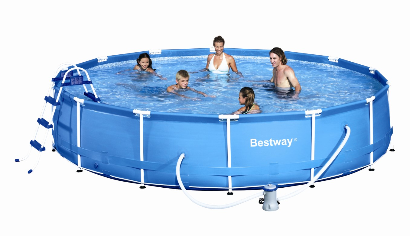 Bestway Oder Intex Pool Bestway Metal Frame Pool Komplett Set 457x91 56066 Ebay
