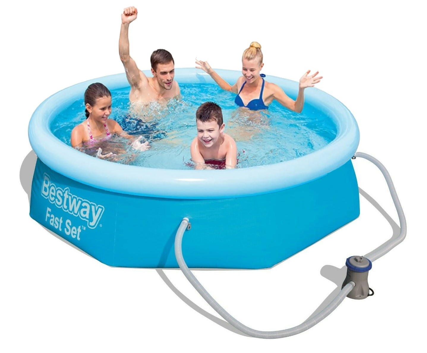 Pool Solarheizung Welche Pumpe Bestway Fast Set Pool 244x66cm Pumpe 57268