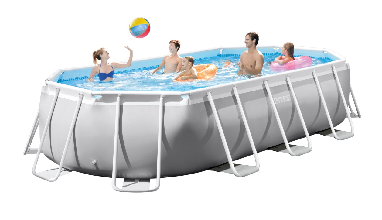Intex Pool Sandfilterpumpe Volt 220-240 Intex Prism Frame Oval Pool 503x274 26796