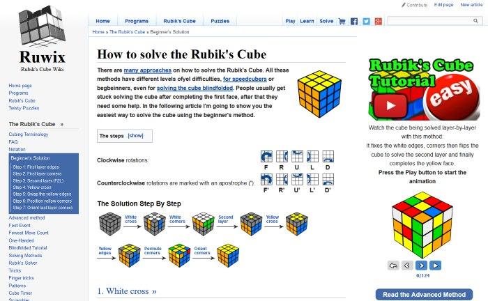 Advanced Rubik\u0027s Cube Notation