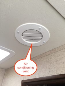 Jayco travel trailer air conditioner vent