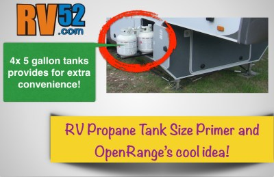 All about RV Propane Tanks and Sizes and a neat OpenRange idea