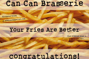 Who has better french fries in Carytown – Can Can or Carytown Burger?