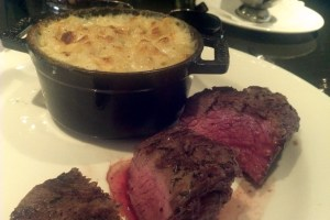 Bistro Steak and Macaroni and Cheese