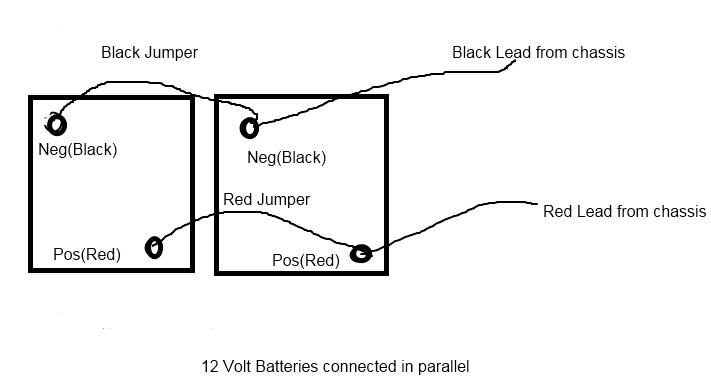 12 volt parallel ledningsdiagram