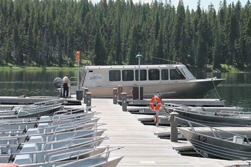Lake Queen Tour Boat Moored at Bridge Bay Marina