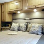 The master bedroom of the 2017 Windsport 29M.