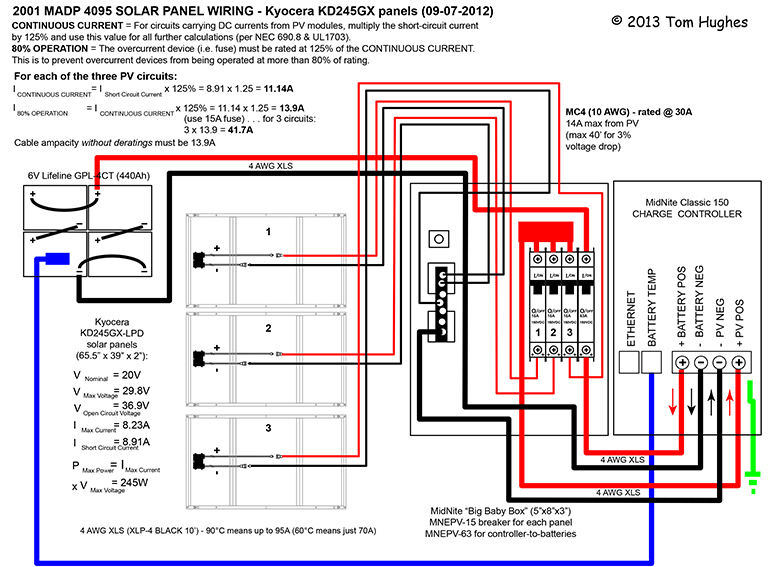 wiring diagrams for solar panels