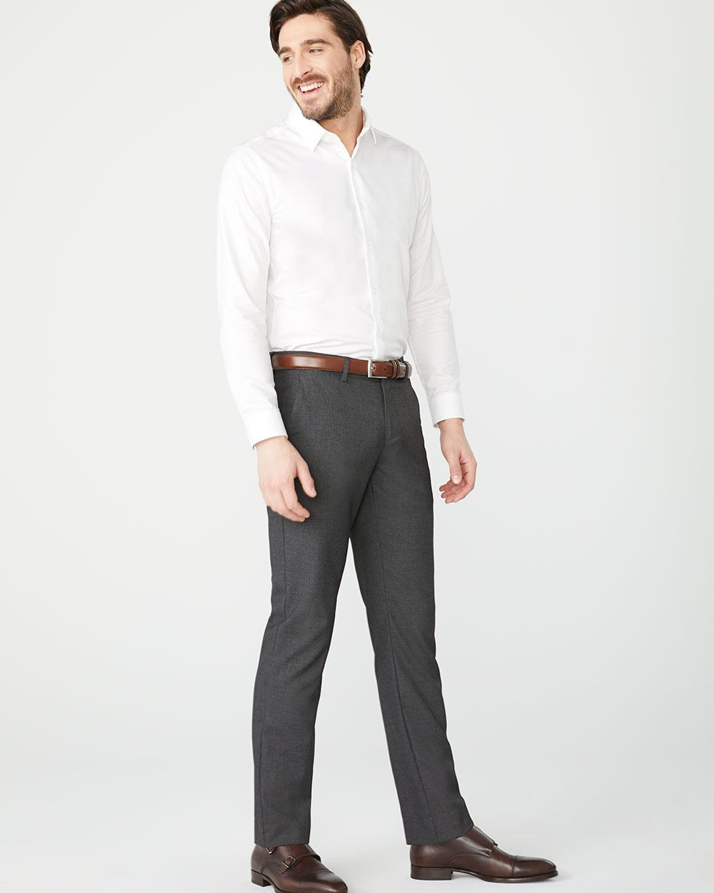 Coupe Ajustée Pantalon De Ville Coupe Ajustée 34 Rw Co