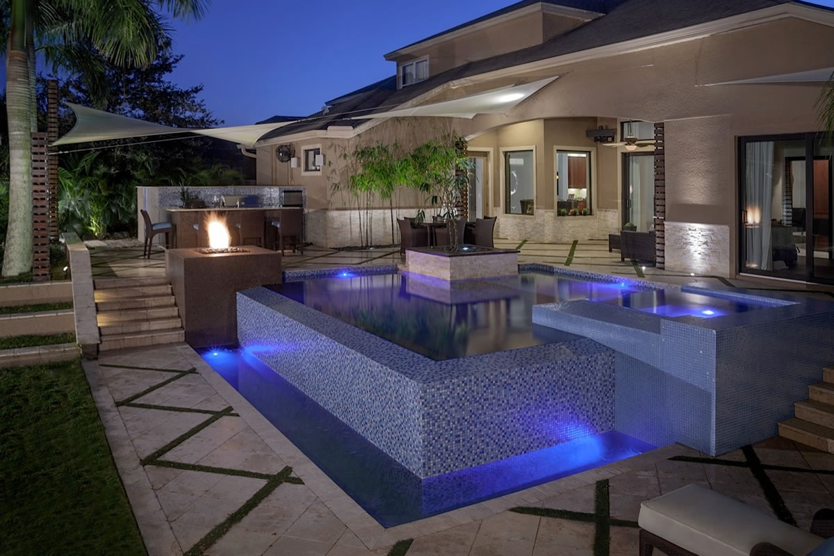 Zen Jacuzzi Pool With Exclusive Lounge Zen Spa Signature Outdoor Living Spaces Project Ryan