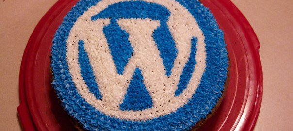 Yummy, delicious cake. WordPress cake.