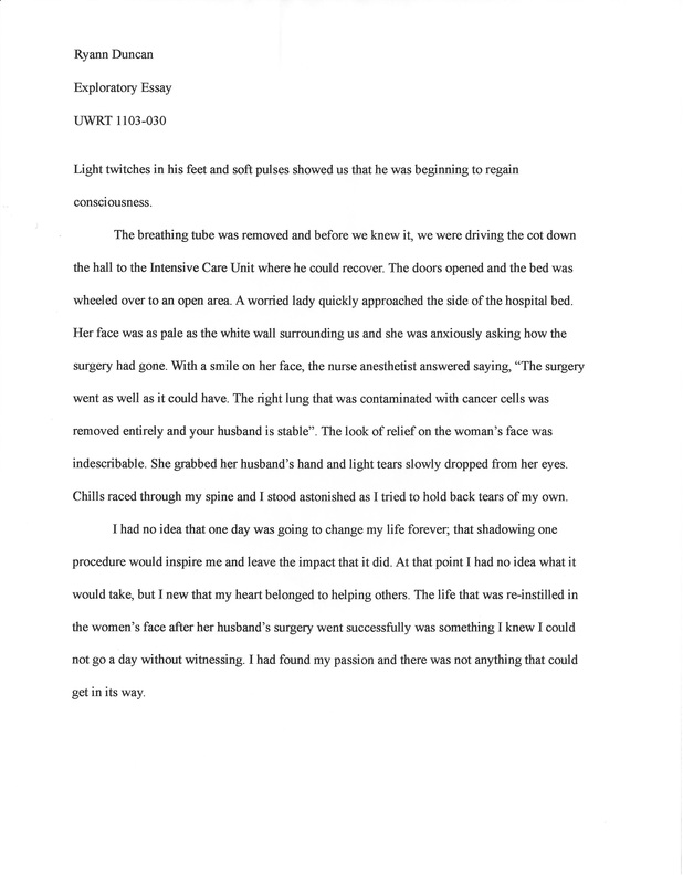 What is an exploratory essay