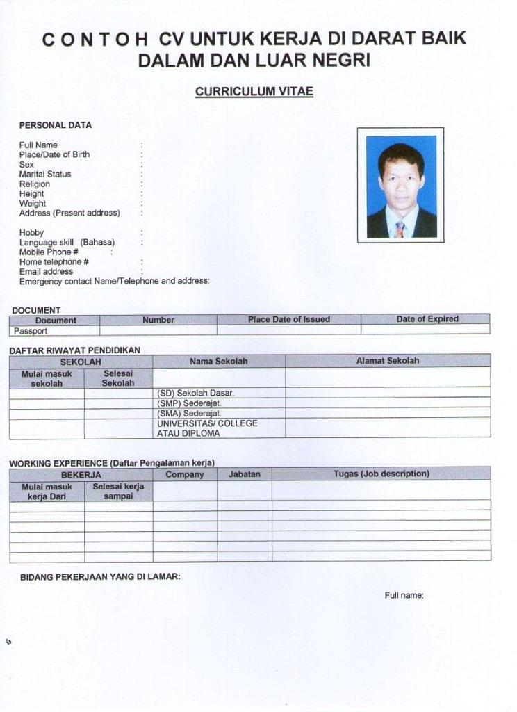 example resume yang lengkap bahasa english best resumes