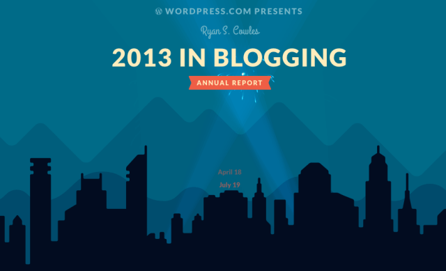 2013 in Blogging by WordPress.com