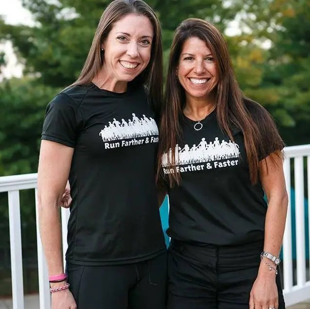 Lisa Reichmann (left) and Julie Sapper (right), coaches and cofounders of Run Farther & Faster. Photograph courtesy of Julie Sapper, Run Farther & Faster.