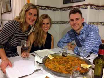 Paella Valenciana in the city it was invented