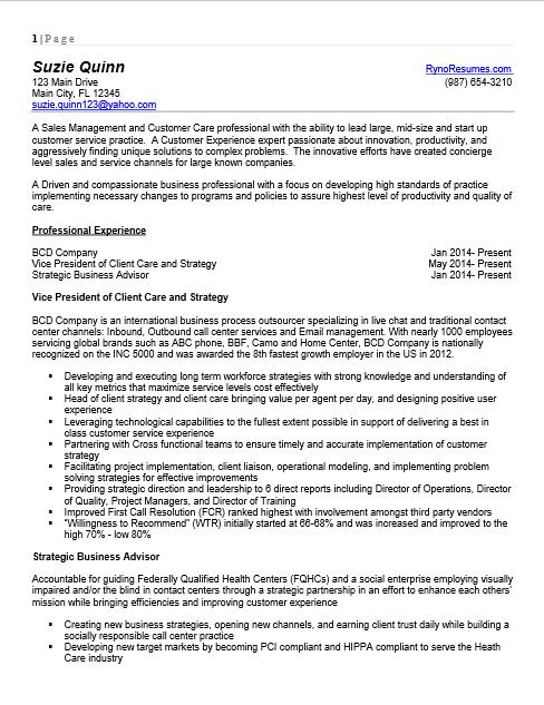 Sample Resumes-and-CV- Ryno Resumes