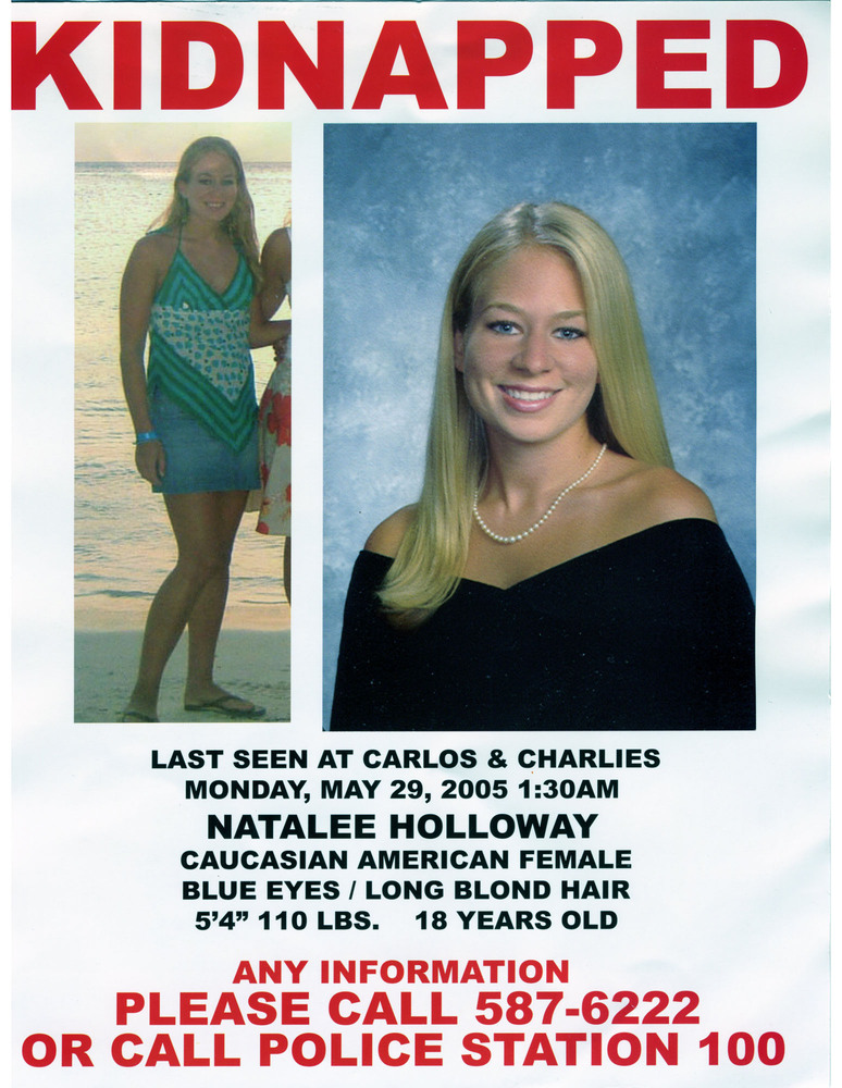 Natalee Holloway\u0027s Father, Dave Holloway, Pursues New Lead In Aruba - make a missing person poster