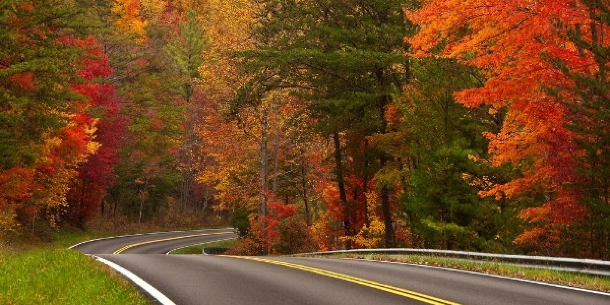 Michigan Fall Colors Wallpaper Fall Road Trips Infographic Huffpost