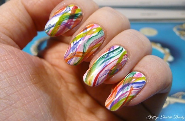 Manimonday A Rainbow Nail Art Design That39s Perfect For