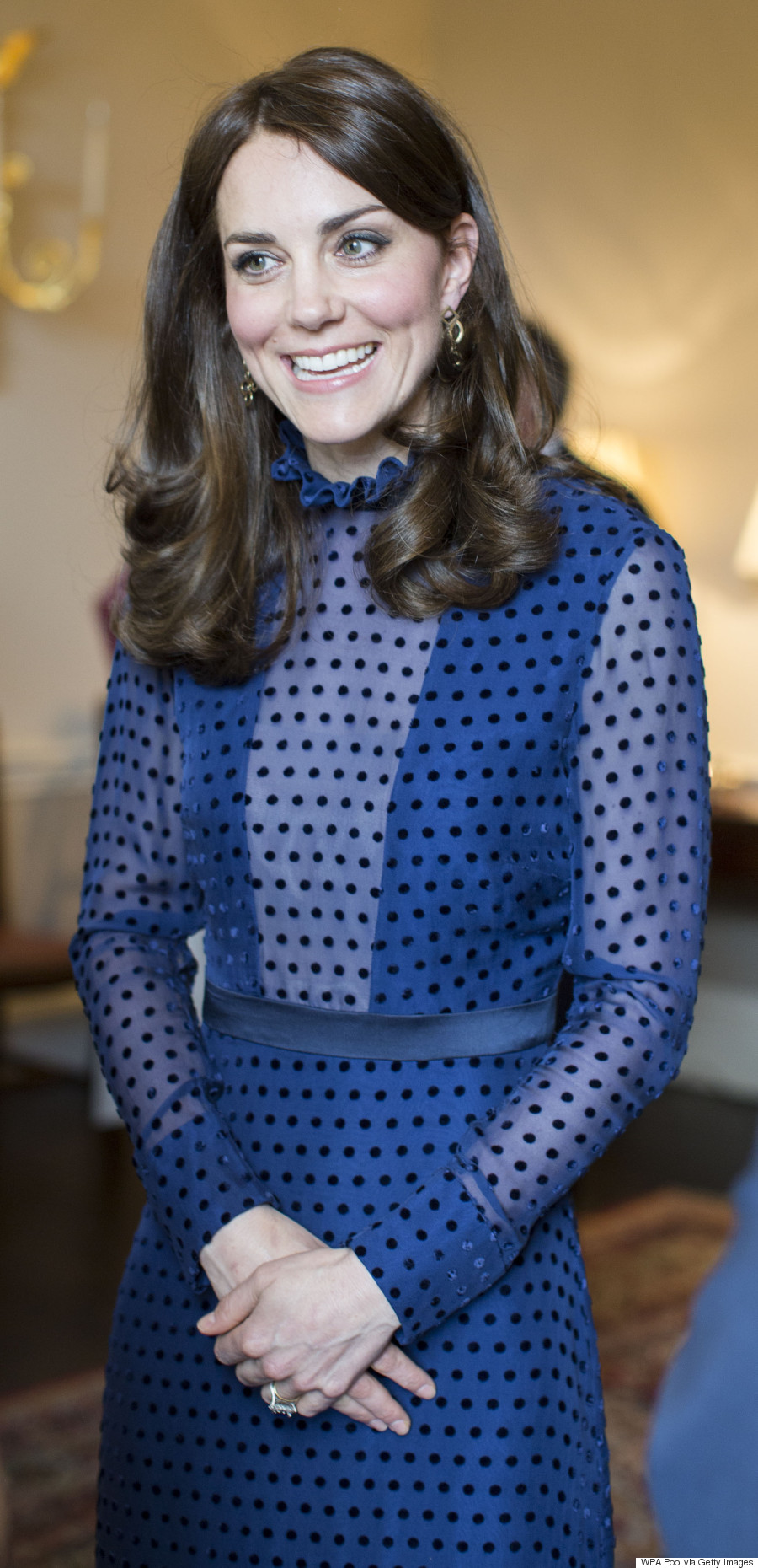 Saloni Paris Kate Middleton Dons Sheer Polka Dotted Dress By Indian Born