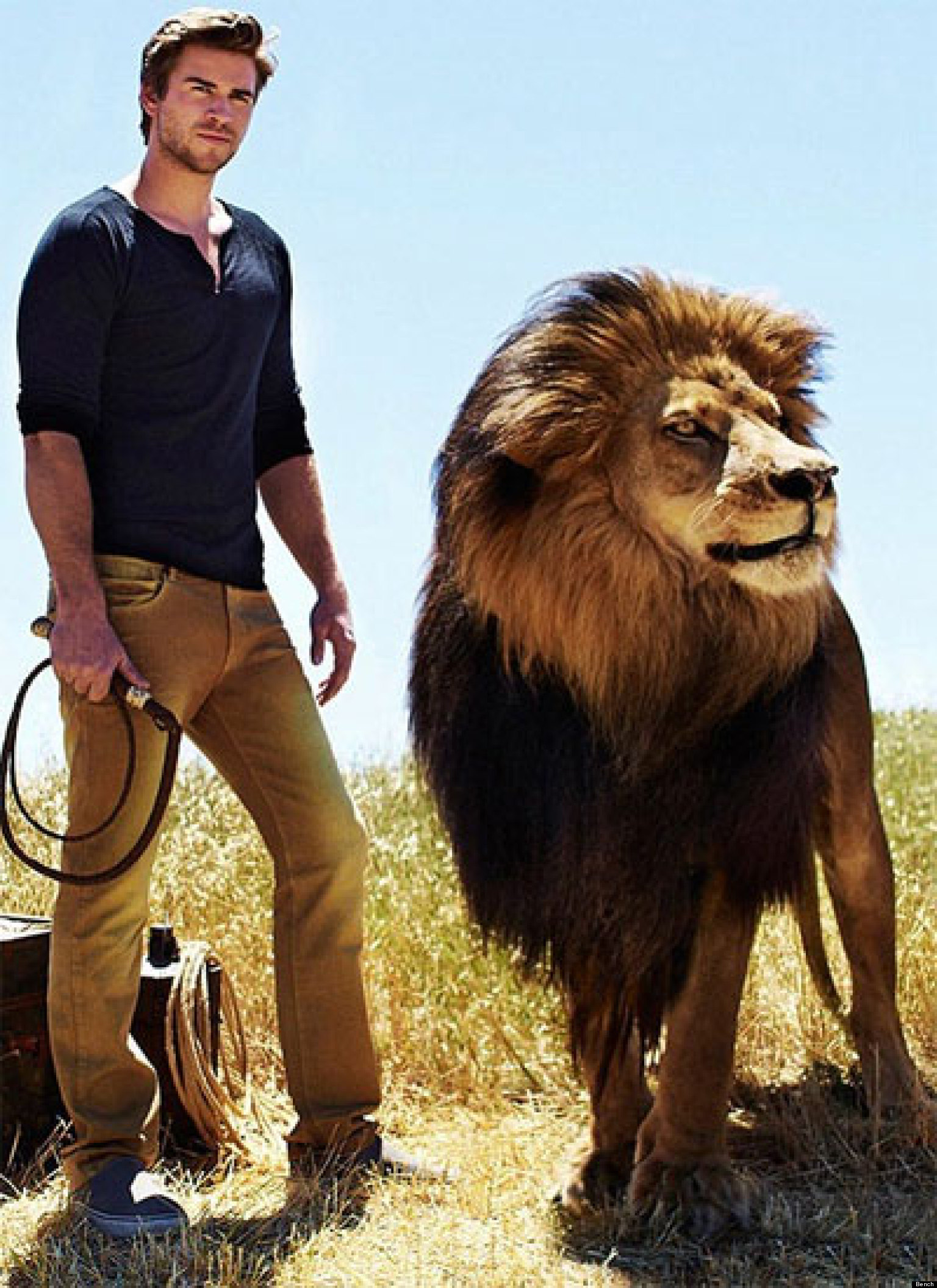 Cute Wallpapers Of All Kind Of Animals Liam Hemsworth Poses With A Real Life Lion In New Bench