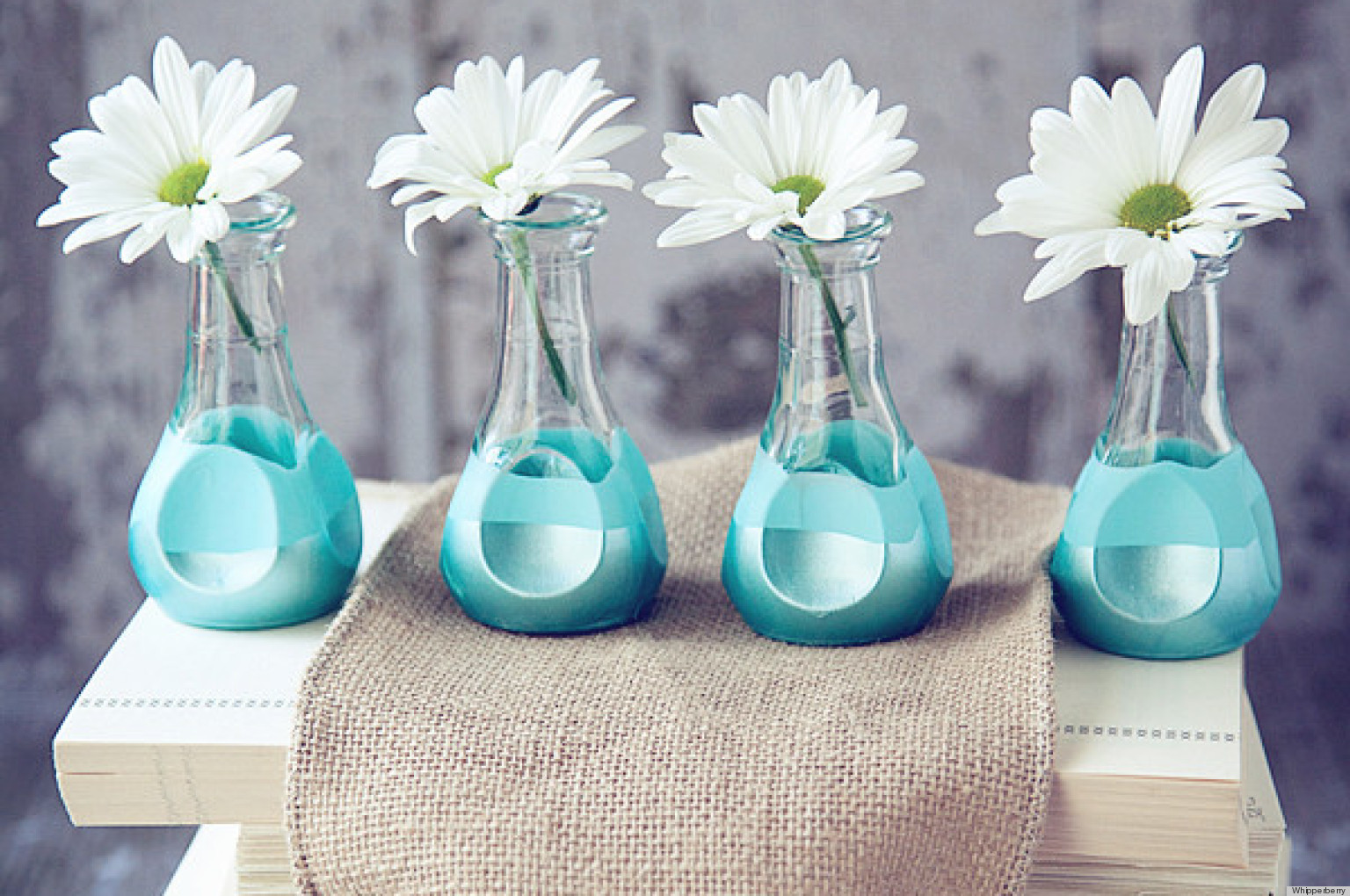 Moderne Blumensträuße Make Paint Dipped Bud Vases Without The Mess Huffpost