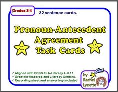 Subject Verb Agreement Pronoun Antecedent Quiz | Create ...