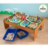 Train Set KidKraft City Kids Track Table Wooden Toys ...