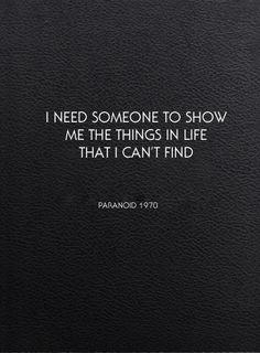 1000+ images about Paranoid on Pinterest | Black sabbath ...