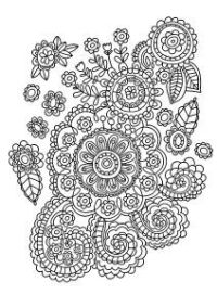 Disegno Di Cespuglio Di Rose Polyantha Da Colorare