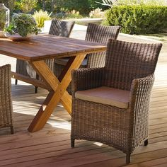 Canvas Cabana Collection Cashmere Wicker Patio Dining