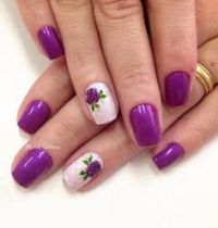 45+ Purple Nail Art Ideas | Purple Nail Art, Single ...