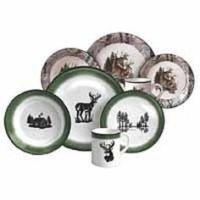 Camo / Trophy Deer 16 Pc Stoneware Dinnerware Set | Fun ...