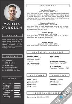 Resume Templates Template Monster Creative Cv Template Fully Editable In Word And