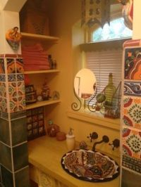 HANDPAINTED MEXICAN SINKS   Guest bathroom ideas ...