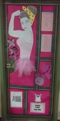 My door decoration this year for breast cancer awareness ...