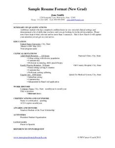nursing resumes examples new grads example of new graduate nurse resume school of nursing new grad