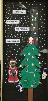 Star Wars Christmas Yoda Classroom Door   2015-2016 school ...