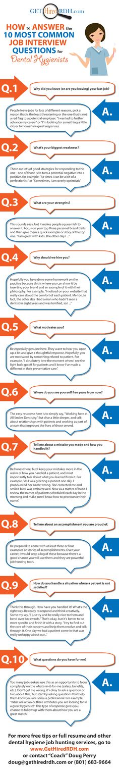 dental hygienist interview questions